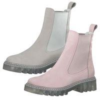 Tamaris Damen Stiefeletten Chelsea Boots Leder 1-25455-26, Größe:41 EU, Farbe:Grau