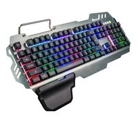 Hinterleuchtete verdrahtet Gaming Tastatur Laser wasserdicht ergonomisch