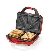 GOURMETmaxx Sandwich Maker - Antihaftbeschichtet - rot