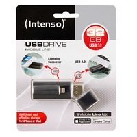 Intenso USB Stick 3.0, 32 GB, Datentransfer zwischen iPhone/iPad und PC/Mac