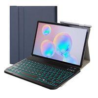 2in1 Keyboard Cover für Samsung Galaxy Tab S5e T720 T725 Case Tastatur Schutz Hülle Blau