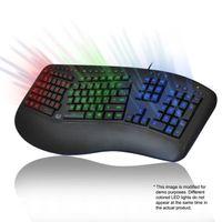 ADESSO AKB-150EB | Farbig beleuchtete ergonomische Tastatur | USB mit Kabel
