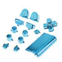 Ersatz-Verchromungstasten Und Touchpad Für Den PS4-Controller In Blau Ersatzknöpfe Andere wie beschrieben