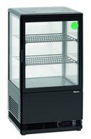 Mini-Kühlvitrine 58 Liter schwarz