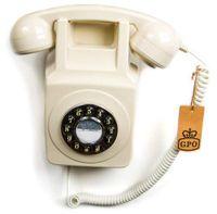 GPO 746 Retro-Wandtelefon Elfenbein