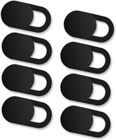 [8er Set] Webcam Abdeckung, Slider Camera Cover Ultra dünne Webcam Cover Privacy-Schutz Kamera Abdeckung für MacBook, iPad, iPhone, Laptop, PC, Smartphones, Tablets, etc. - (Schwarz)