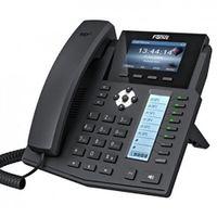 Fanvil X5S - Schwarz - Kabelgebundenes Mobilteil - Digital - Tisch/Wand - LCD - 480 x 320 Pixel