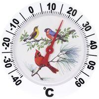 Außenthermometer Analog Fenster Außen Thermometer Groß Gartenthermometer 25x25cm