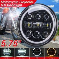 "5-3/4"" 5.75"" LED Motorrad Scheinwerfer Projector DRL Hi/Lo Angel Eye E-"