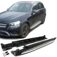 Alu Trittbretter Flankenschutz OE Style mit ABE !! für Mercedes GLC X253 ab 15