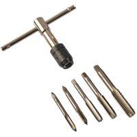 6 teiliges Set  Gewindeschneider  M6 - M12 für Innengewinde Bohrerhalter mit T-Griff