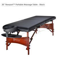 Master Massage 71cm NewPort™ Mobile Massageliege Beauty Bett Paket mit Klappbarem Holzgestell-Schwarz