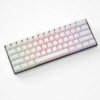 KEMOVE 61 Tasten Mechanische Tastatur, Gateron Blau Switch, Dual Mode RGB Gaming Tastatur, Gehäuse: Weiß