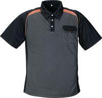Polo-Shirt  dunkelgrau/orange Gr. M