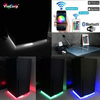 Wifi Multicolor RGB LED USB Design Unterlage / Ständer Standfuß Acryl für Xbox Series X