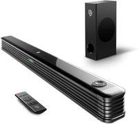 Bomaker Soundbar für TV Gerät mit Wireless Subwoofer, 2.1 Kanal Bluetooth 5.0 Soundbar 150W Heimkino Soundbarsystem unterstützt Koaxiale,Optisch, AUX, USB
