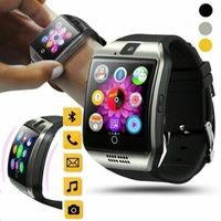 Bluetooth Smartwatch Handy Armbanduhr Mit SIM Slot+Kamera Für Android iOS Neu-Black