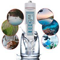 4 in 1 PH / EC / TDS / Temperaturmesser Wasserqualitaetspruefgeraet Messgeraet mit hoher Genauigkeit Messbereich LCD-Anzeige Messwerkzeug fuer Trinkwasseraquarium