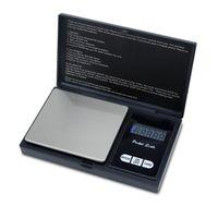 Digitale Feinwaage 500 gr Elektronische Taschenwaage mit Tara Funktion und LCD-Display SCHWARZ