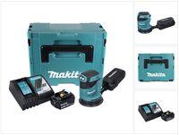 Makita DBO 180 RF1J Akku Exzenterschleifer 18 V 125 mm + 1x Akku 3,0 Ah + Ladegerät + Makpac