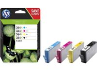 HP 364XL Tintenpatrone - Schwarz, Magenta, Cyan, Gelb Original - Tintenstrahl - Hoch Kapazität - 750 Seiten Gelb, 750 Seiten Cyan, 550 Seiten Schwarz, 750 Seiten Magenta - 4er Pack