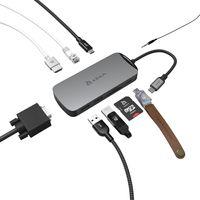 CASA HUB X USB-C 3.1 - Multifunktionaler, kompakter USB-C-Hub mit 10 Anschlüssen