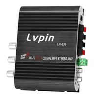 Mini-HIFI-Audio-Stereo-Leistungsverstaerker-Subwoofer-MP3-Autoradio-Kanaele 2 Haushalt Super Bass Lvpin 838