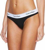 Calvin Klein Underwear Medium Waist Thong Black M
