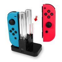 Eaxus®️ Ladestation für Nintendo Switch Joy-Con -  Halterung für 4 Joy-Con Controller mit LEDs. Nintendo Switch Charger Ladegerät