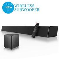 ele ELEOPTION Heimkino-Soundsystem Soundbar TV Bluetooth-Lautsprecherunterstützung Optischer AUX-Koaxial-Soundbar Drahtloser Subwoofer Für TV