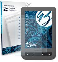 Bruni Basics-Clear 2x Schutzfolie kompatibel mit PocketBook Touch Lux 2 / 3 Folie