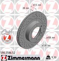 2x ZIMMERMANN VORNE Bremsscheibe für LEXUS GX _J12_