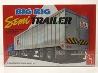 Big Rig Semi Trailer Anhänger Kunststoffbausatz Modellauto 1:25 AMT