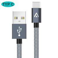 USB C Kabel 2m Nylon schnell Ladekabel Datenkabel für USB Typ-C Geräte Samsung Huawei LG
