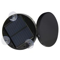Solar Fenster saugen Power Bank Notfall Mobile Stromversorgung Handy Ladegeraet Schwarz 1800mAh