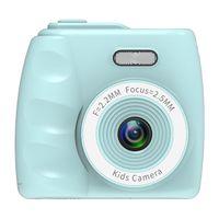 Kinderkamera Kinder Digitalkamera e Aufnahme ohne Karte 2-Zoll-Camcorder mit Taschenlampe Musikspiele Eingebaute Filter und Spiegeleffekte Unterstuetzung 32G TF-Karte