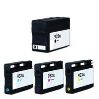 Druckerpatronen-Set wie HP 932 XL black + 933 XL cyan, magenta und yellow für OfficeJet 6100 e-Printer, 6600 e-All-in-One, 6700 , 7110 wide format, 7510 wide format, 7600 Series, 7610 wide format, 7612 wide format