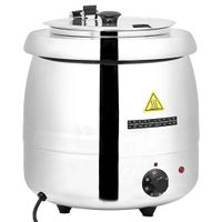 Küchenwaren- Elektrischer Suppentopf Suppenkessel Kochkessel Edelstahl 10 L