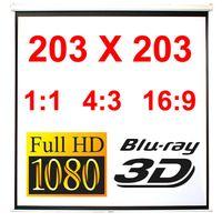 110' Heimkino Beamer Projektor Leinwand Beamerleinwand HDTV 16:9 4:3 203x203cm