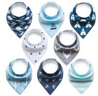 Baby Dreieckstuch Lätzchen 8er Pack Halstuch Spucktuch Lätzchen mit Druckknopf für Baby Jungen und Mädchen Kleinkinder Saugfähig Weich Größenverstellbar(Zufällige Farben)