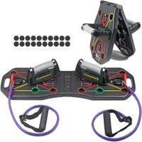 Push Up Board Rack 9 in 1 Muskel Liegestützgriffe Krafttraining System Builder Multifunktions Heimtrainings Fitnessgerät