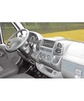 PreWooder Armaturenbrett-Veredelung Aluminium für Fiat Ducato Baujahr 03/1994 – 09/1998