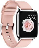 Smartwatch Fitness Tracker Uhr Armbanduhr Schrittzähler Blutdruckmessung Uhr Pulsuhr Wasserdicht Stoppuhr SMS-Anruf Jugendlichen Damen Herren für IOS Android Handy
