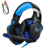 KOTION JEDES G2000 3,5-mm-Gaming-Headset Rauschunterdrueckung fuer PC-Laptop-Smartphone mit Audio-Adapterkabel