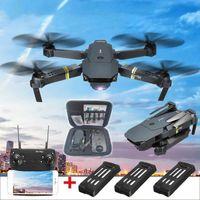 2.4G Drone X Pro WIFI FPV 4K HD Kamera mit 3 Batterien Faltbarer RC 6-Achsen Quadcopter E58