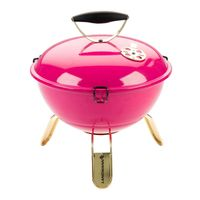 LANDMANN Kugelgrill Campinggrill BBQ Piccolino Queen Tragbar Holzkohlegrill pink
