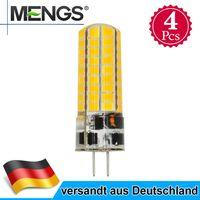 4Pcs MENGS G4 6W LED Birne Lampen Stiftsockel Leuchtmittel AC/DC 12V 560LM 72X5730 SMD Kaltweiß Silikon