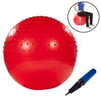 Gymnastikball mit Noppen 75cm inkl. Handpumpe Rot Fitnessball Yogaball Sitzball Sportball Aerobik Balance Pilates Ball