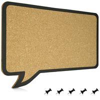 Navaris Kork Pinwand Memoboard Tafel - 44 x 29 cm Pin Board Korkwand - Pinnwand im Sprechblase Design - Korktafel Memo Wand inkl. 5 Pins - Korkpinwand