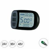 E-Bike/Pedelec Display Bordcomputer KT-LCD5 Tachoanzeige 24V 36V 48V Tachometer wasserdicht